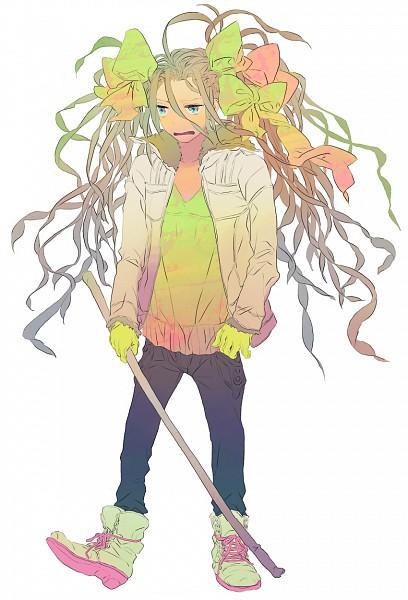 Tags: Anime, Yokarura, Yellow Gloves, Yankee, Pixiv, Original