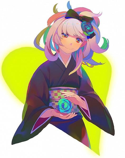 Tags: Anime, Yokarura, Black Flower, White Nails, Pixiv, Original