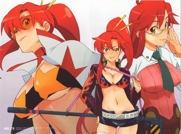 Tags: Anime, Nishigori Atsushi, Gainax, Tengen Toppa Gurren-Lagann, Yomako, Yoko Littner, Scan, Official Art