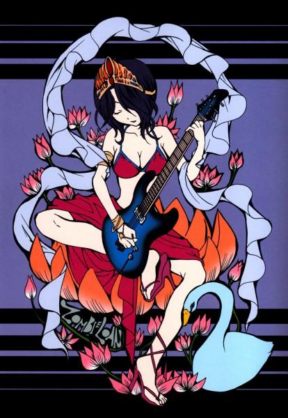 Tags: Anime, PEACH-PIT, Zombie-Loan, Peach-pit Artworks : Zombie-loan, Yomi (Zombie-loan), Swan, Official Art