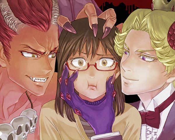 Tags: Anime, mm, Yondemasuyo Azazel-san, Azazel, Beelzebub (Yondemasuyo Azazel-san), Sakuma Rinko, Fanart From Pixiv, Pixiv, Fanart