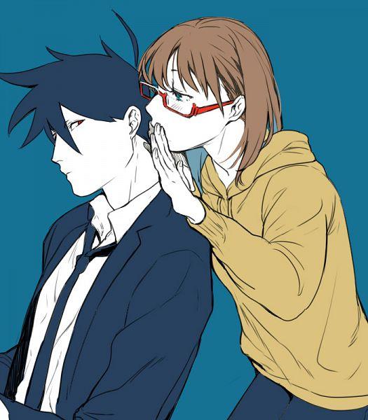 Tags: Anime, Pixiv Id 30358662, Fujishima (Raving Phantom), Yondemasuyo Azazel-san, Glasses In Summerlife02, Akutabe, Sakuma Rinko, Whisper, Pixiv