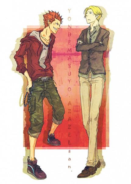 Tags: Anime, Pixiv Id 1778636, Yondemasuyo Azazel-san, Azazel, Beelzebub (Yondemasuyo Azazel-san), Mobile Wallpaper