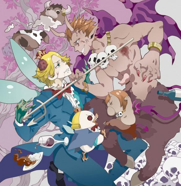 Tags: Anime, Kuroihato, Yondemasuyo Azazel-san, Moloch, Beelzebub (Yondemasuyo Azazel-san), Azazel