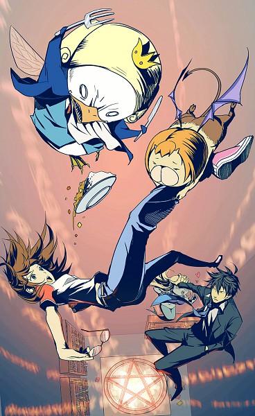 Tags: Anime, Pixiv Id 1134488, Yondemasuyo Azazel-san, Sakuma Rinko, Akutabe, Undine (Yondemasuyo Azazel-san), Azazel, Beelzebub (Yondemasuyo Azazel-san), Mobile Wallpaper