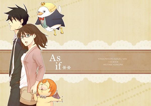 Tags: Anime, Pixiv Id 1801415, Yondemasuyo Azazel-san, Azazel, Beelzebub (Yondemasuyo Azazel-san), Sakuma Rinko, Akutabe