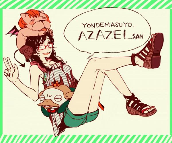 Tags: Anime, Ogi (Sham00), Yondemasuyo Azazel-san, Azazel, Beelzebub (Yondemasuyo Azazel-san), Sakuma Rinko