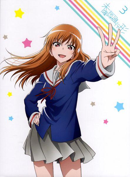 Tags: Anime, Dogakobo, Mikakunin de Shinkoukei, Yonomori Benio, Flower Clip, Official Art, Scan, DVD (Source)