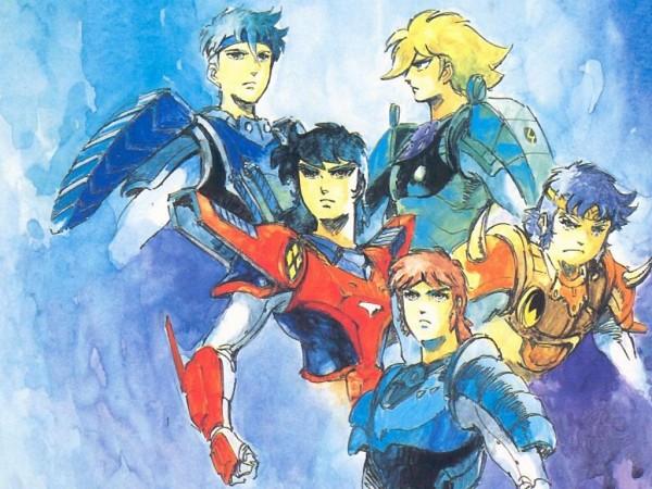 Tags: Anime, Yoroiden Samurai Troopers, Hashiba Touma, Mouri Shin, Date Seiji, Sanada Ryou, Xiu Lei Huang, Watercolor, Traditional Media