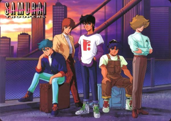 Tags: Anime, Yoroiden Samurai Troopers, Xiu Lei Huang, Hashiba Touma, Mouri Shin, Date Seiji, Sanada Ryou