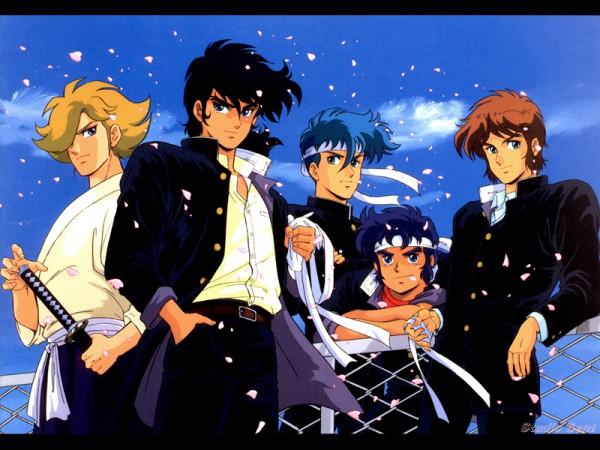 Tags: Anime, Yoroiden Samurai Troopers, Hashiba Touma, Mouri Shin, Date Seiji, Sanada Ryou, Xiu Lei Huang