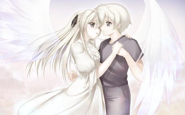 Tags: Anime, Jerry, Yosuga no Sora, Kasugano Haruka, Kasugano Sora, Twincest, Wallpaper, Fanart, Sky Of Connection