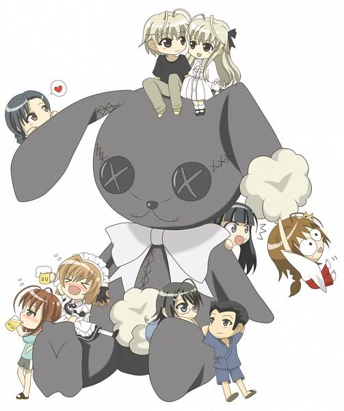 Tags: Anime, Pixiv Id 1492345, Yosuga no Sora, Migiwa Kazuha, Kasugano Sora, Yorihime Nao, Amatsume Akira, Nogisaka Motoka, Kuranaga Kozue, Ifukube Yahiro, Kasugano Haruka, Sky Of Connection