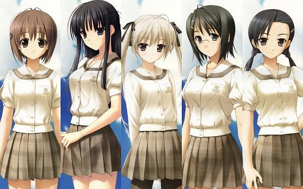 Tags: Anime, Hashimoto Takashi, Sphere (Studio), Yosuga no Sora, Kasugano Sora, Amatsume Akira, Migiwa Kazuha, Yorihime Nao, Wallpaper, HD Wallpaper, Sky Of Connection