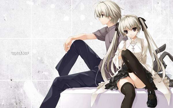 Tags: Anime, Misaki Kurehito, Cradle, Yosuga no Sora, Kasugano Haruka, Kasugano Sora, Wallpaper, Sky Of Connection