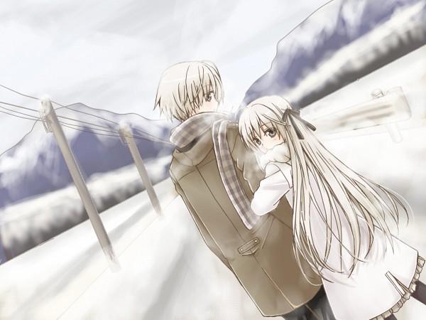Tags: Anime, Pixiv Id 628881, Yosuga no Sora, Kasugano Haruka, Kasugano Sora, Tape, Twincest, Wallpaper, Sky Of Connection
