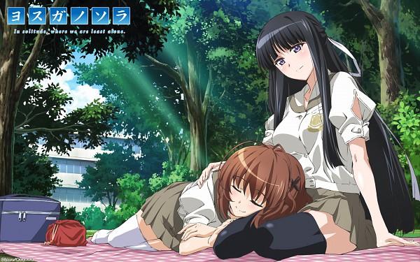 Tags: Anime, Feel (Studio), Yosuga no Sora, Migiwa Kazuha, Amatsume Akira, Cross Clip, Wallpaper, Official Art, Sky Of Connection