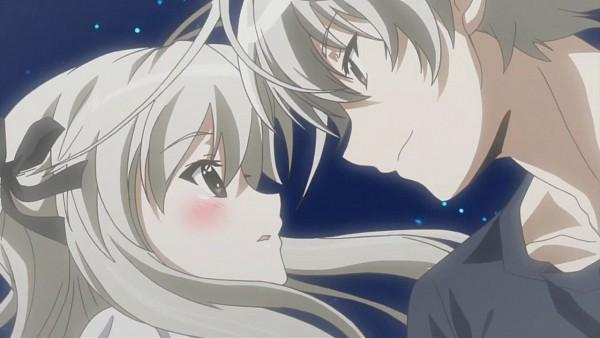 Tags: Anime, Yosuga no Sora, Kasugano Haruka, Kasugano Sora, Twincest, Facebook Cover, Screenshot, Wallpaper, Sky Of Connection
