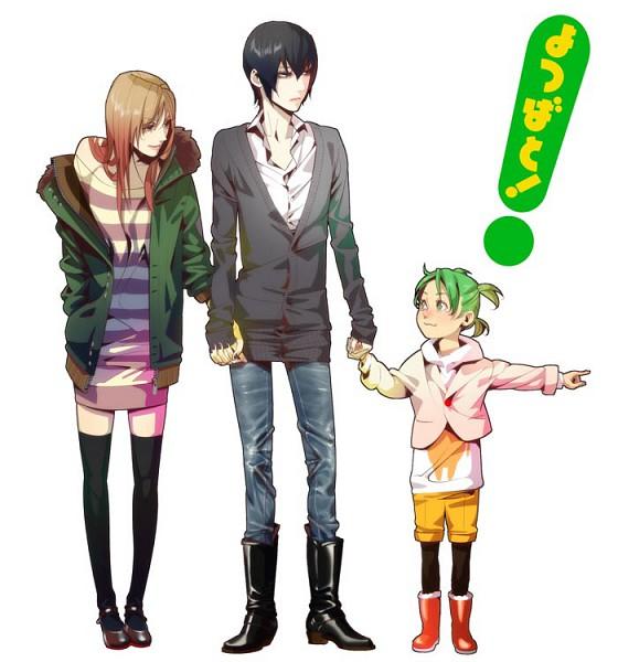 Tags: Anime, Pixiv Id 338104, Yotsuba&!, Ayase Asagi, Koiwai Yotsuba, Torako, Quad Tails, Pixiv, Fanart