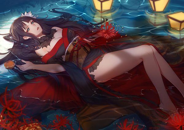 Tags: Anime, Pixiv Id 3343713, Final Fantasy XIV, Yotsuyu (Final Fantasy XIV), Ophelia (Painting), Fanart From Pixiv, Pixiv, Fanart