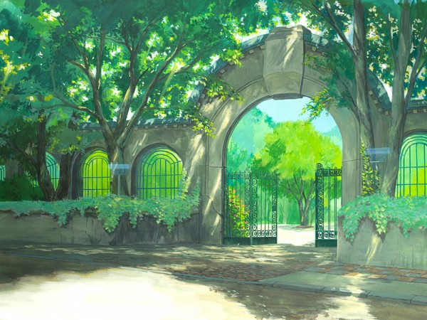 Tags: Anime, You Shimizu, Gate, Park, Archway, Pixiv