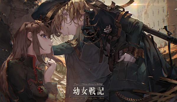Tags: Anime, kawacy, Youjo Senki, Viktoriya Ivanovna Serebryakov, Tanya Degurechaff, Saga Of Tanya The Evil