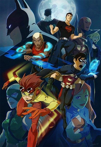 Tags Anime Lychi Artist Young Justice Superman Batman