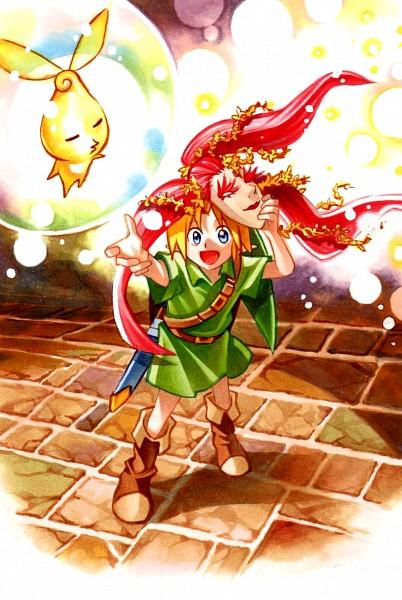 Tags: Anime, Pixiv Id 9250993, Zelda no Densetsu: Mujura no Kamen, Zelda no Densetsu, Young Link, Link, Pixiv, Fanart From Pixiv, Fanart
