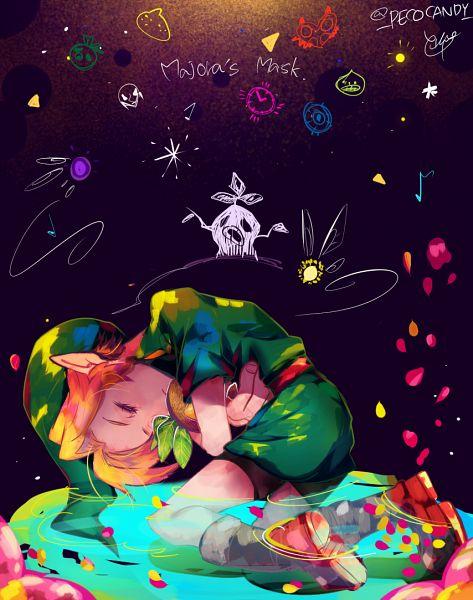 Tags: Anime, Pixiv Id 3293023, Zelda no Densetsu: Mujura no Kamen, Zelda no Densetsu, Tael, Young Link, Taya (Mujura no Kamen), Link, Tunic, Pixiv, Fanart From Pixiv, Fanart