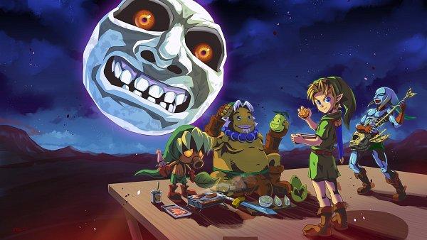 Tags: Anime, Pixiv Id 2560655, Zelda no Densetsu: Mujura no Kamen, Zelda no Densetsu, Zora Link, Young Link, Goron Link, Link, Deku (Zelda no Densetsu), Deku Link, Zora, Goron, Wallpaper