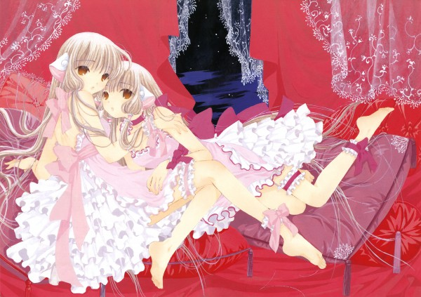 Tags: Anime, CLAMP, Chobits, Your Eyes Only, Chii, Freya (Chobits), Scan, Official Art