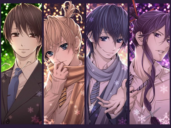 Tags: Anime, Hima (Abgata), VOCALOID, Hiyama Kiyoteru, Kamui Gakupo, KAITO, Kagamine Len, Gensou Airly, Adjusting Tie, Wallpaper, Pixiv, Your Highness☆My Princess