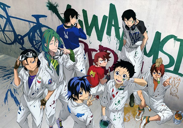 Tags: Anime, Watanabe Wataru, TMS Entertainment, Yowamushi Pedal, Arakita Yasutomo, Imaizumi Shunsuke, Shinkai Hayato, Naruko Shoukichi, Toudou Jinpachi, Onoda Sakamichi, Manami Sangaku, Makishima Yuusuke, Graffiti, Weak Pedals