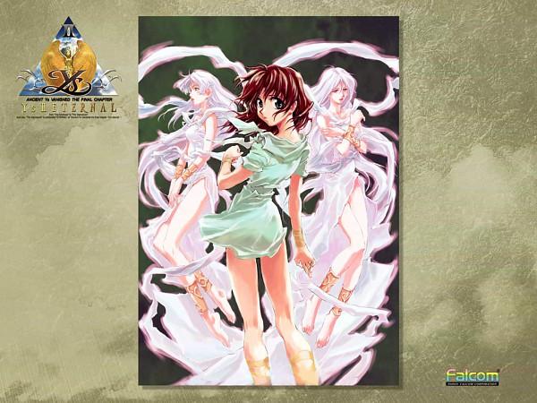 Tags: Anime, Falcom, Ys, Lilia, Reah, Feena (ys), Wallpaper