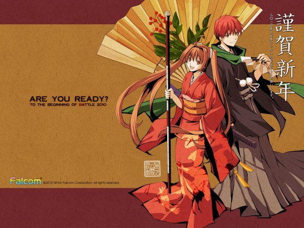 Tags: Anime, Falcom, Ys vs. Sora no Kiseki: Alternative Saga, Ys, Eiyuu Densetsu VI: Sora no Kiseki, Estelle Bright, Adol Christin, Official Art, Official Wallpaper, Wallpaper