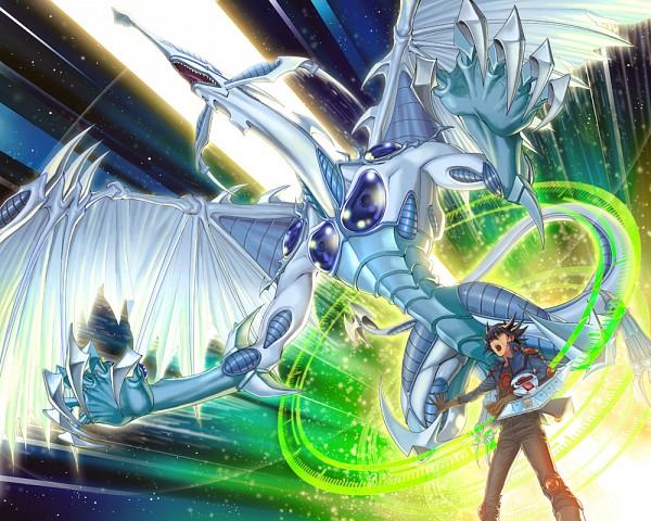 Tags: Anime, YNA, Yu-Gi-Oh! 5D's, Yu-Gi-Oh!, Stardust Dragon, Yusei Fudo, 1000x800 Wallpaper