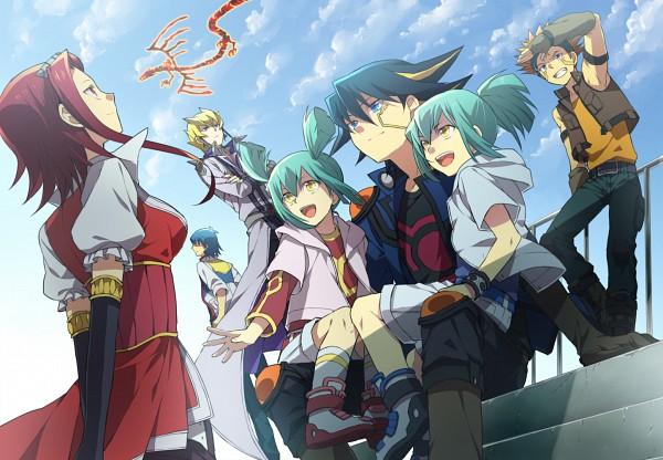 Tags: Anime, Abaraya, Yu-Gi-Oh!, Yu-Gi-Oh! 5D's, Bruno, Jack Atlas, Izayoi Aki, Yusei Fudo, Crimson Dragon, Crow Hogan, Luca (Yu-Gi-Oh! 5D's), Lua (Yu-Gi-Oh! 5D's), Fanart
