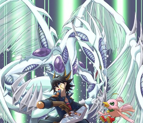 Tags: Anime, Pixiv Id 498589, Yu-Gi-Oh! 5D's, Yu-Gi-Oh!, Sonic Chick, Stardust Dragon, Yusei Fudo