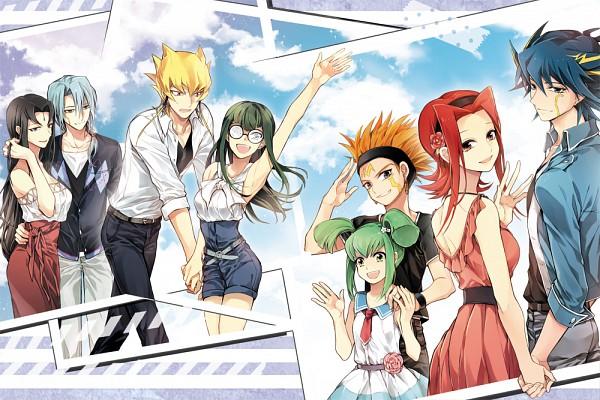 Tags: Anime, TILA, Yu-Gi-Oh! 5D's, Yu-Gi-Oh!, Jack Atlas, Carly Nagisa, Yusei Fudo, Kiryu Kyousuke, Crow Hogan, Izayoi Aki, Luca (Yu-Gi-Oh! 5D's), Misty Lola, Fanart