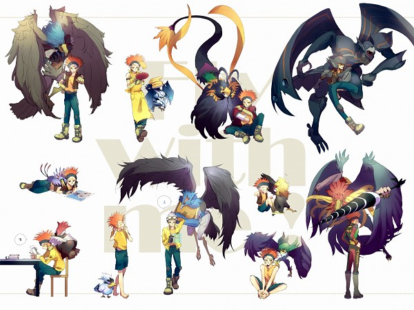 Tags: Anime, Pixiv Id 281033, Yu-Gi-Oh! 5D's, Yu-Gi-Oh!, Blackwing Armor Master, Blackwing - Vayu the Emblem of Honor, Blackwing - Mistral The Silver Shield, Blackwing - Kochi The Daybreak, Blackwing - Kalut the Moon Shadow, Blackwing - Bora the Spear, Crow Hogan, Blackwing - Blizzard the Far North, Blackwing - Gale the Whirlwind