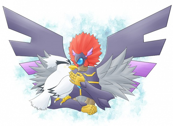 Tags: Anime, Pixiv Id 319256, Yu-Gi-Oh! 5D's, Yu-Gi-Oh!, Blackwing - Blizzard the Far North, Blackwing Armed Wing, Animal on Hand, PNG Conversion, Pixiv, Fanart From Pixiv, Fanart