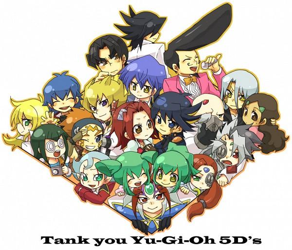 Tags: Anime, Pixiv Id 631479, Yu-Gi-Oh! 5D's, Yu-Gi-Oh!, Sherry LeBlanc, Luca (Yu-Gi-Oh! 5D's), Bruno, Tetsu Ushio, Izayoi Aki, Dr. Fudo, Lua (Yu-Gi-Oh! 5D's), Placido, Lazar