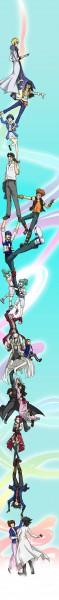 Tags: Anime, Yu-Gi-Oh! 5D's, Yu-Gi-Oh!, Wesuto, Kiryu Kyousuke, Bruno, Yusei Fudo, Mikage Sagiri, Mrs. Fudo, Crow Hogan, Lucciano, Tetsu Ushio, Luca (Yu-Gi-Oh! 5D's)