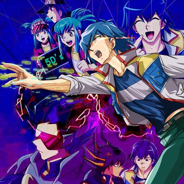 Tags: Anime, Ashi Ura, Yu-Gi-Oh! 5D's, Yu-Gi-Oh!, Yusei Fudo, Bruno, Luca (Yu-Gi-Oh! 5D's), Lua (Yu-Gi-Oh! 5D's), Cup Noodle, Fanart, Fanart From Pixiv, PNG Conversion, Pixiv