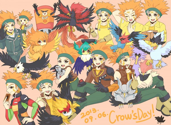 Tags: Anime, Pixiv Id 4522328, Yu-Gi-Oh! 5D's, Yu-Gi-Oh!, Blackwing - Jetstream The Blue Sky, Crow Hogan, Blackwing - Blizzard the Far North, Blackwing - Aurora The Northern Lights, Blackwing - Gale the Whirlwind, Blackwing - Vayu the Emblem of Honor, D.D. Crow, Blackwing - Kochi The Daybreak, Blackwing - Breeze the Zephyr