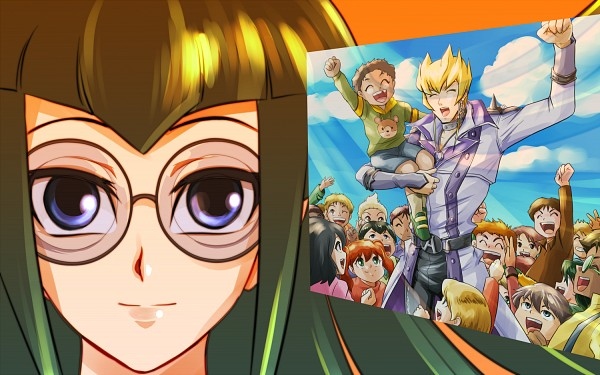 Tags: Anime, Ashi Ura, Yu-Gi-Oh! 5D's, Yu-Gi-Oh!, Carly Nagisa, Jack Atlas, Pixiv, Fanart From Pixiv, PNG Conversion, Fanart