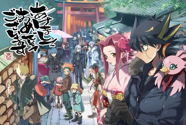 Tags: Anime, Pixiv Id 6620471, Yu-Gi-Oh! 5D's, Yu-Gi-Oh!, Tetsu Ushio, Luca (Yu-Gi-Oh! 5D's), Brave (Yu-Gi-Oh! 5D's), Yoshizo Hayashi, Izayoi Aki, Kazama Souichi, Lua (Yu-Gi-Oh! 5D's), Mizoguchi, Bruno