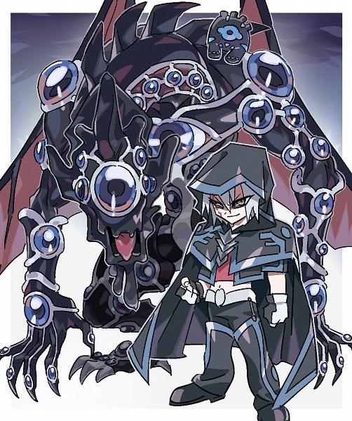 Tags: Anime, Pixiv Id 6604396, Yu-Gi-Oh! 5D's, Yu-Gi-Oh!, Kiryu Kyousuke, Hundred Eyes Dragon, Dark Signer Uniform, PNG Conversion, Fanart, Pixiv, Fanart From Pixiv