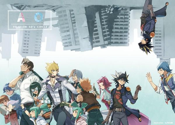 Tags: Anime, Pixiv Id 6620471, Yu-Gi-Oh! 5D's, Yu-Gi-Oh!, Mikage Sagiri, Crow Hogan, Luca (Yu-Gi-Oh! 5D's), Izayoi Aki, Stephanie (Yu-Gi-Oh! 5D's), Lua (Yu-Gi-Oh! 5D's), Carly Nagisa, Tetsu Ushio, Jack Atlas
