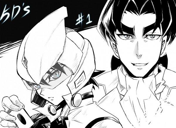 Tags: Anime, Pixiv Id 2294688, Yu-Gi-Oh! 5D's, Yu-Gi-Oh!, Yusei Fudo, Tetsu Ushio, Motorcycle Helmet, Fanart, Pixiv, Fanart From Pixiv